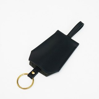 Minimalist vegetable tanned leather key ring