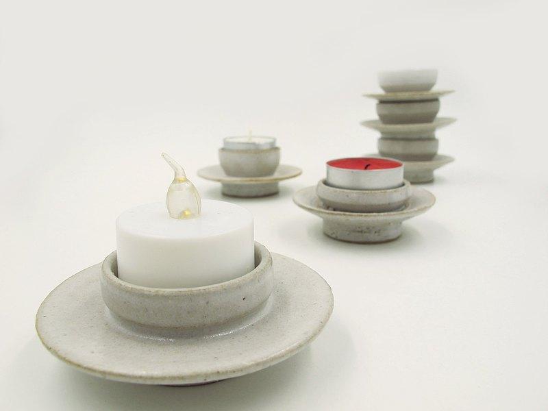 陶製手作小燭台