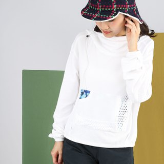 Labyrinth pocket suction reflective hoodie