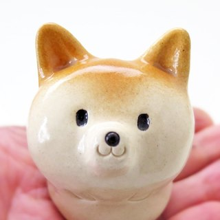 The Shiba Inu paperweight with glaze #1   工房しろ 柴犬 Japan