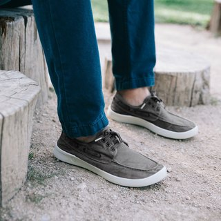 Spanish handmade canvas shoes / 303E sailing shoes / men's clothing / washed grey