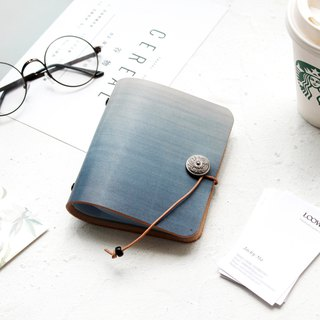 Graduation Gifts Father's Day Gifts such as Laoshan Hailan Gradient Vegetable-tanned Leather Card Holder / Leather Business Card Holder / Ticket Card Holder Business Card Holder Card Holder Card Holder Business Card Holder Card Holder Customized 40-Car