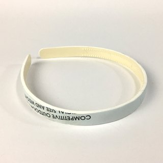 Volleyball x hair hoop / fine / sand white section number 004