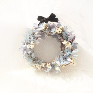 French romantic snow country wreath, French white plum dry flower classic flower ceremony
