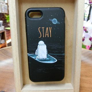 "3D Protective Bumper Case climax ""astronaut Tales / STAY"" / gentle touch han scratch Phone Case [Customizable aircraft models: iPhone Full Model / Series NOTE.S Samsung / LG]"