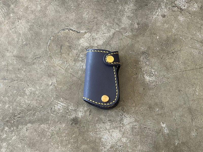 【Mini5】手工縫線汽車鑰匙包/偉士牌鑰匙(藍)