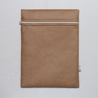Notebook set simple and stylish 12.5 吋 pen electric sleeve A4 file bag - artificial leather brown