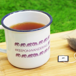 #KEEPONWANDERING Purple Elephant Steel Cup (珐琅 Cup/Mug)