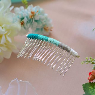 Makeup plate braided fork / hairpin / hair comb - lake water