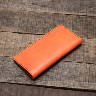 Minimal autumn maple red hand dyed yak leather handmade simple clip / multi-purpose clip