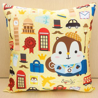 Squly Cushion (travel with yellow background)