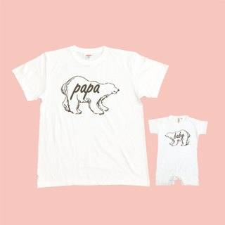 Bear parent-child group (two in) neutral T-shirt children's T-shirt bag fart