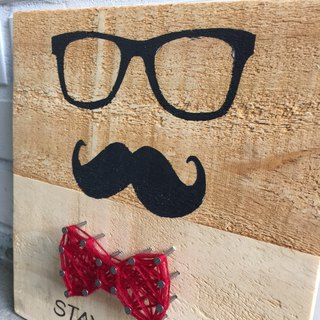 [6618 yo-yo tail] STAY CLASSY Alice mustache fun creative wooden decorations