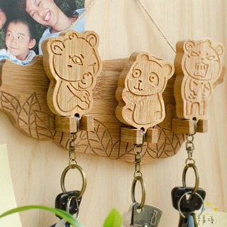 【Christmas gifts】 Bear family / key ring hanging version of the key holder key ring home waiting for you to go home for dinner