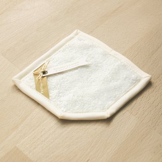 Thick towel】 【Vanilla white absorbent coaster coaster