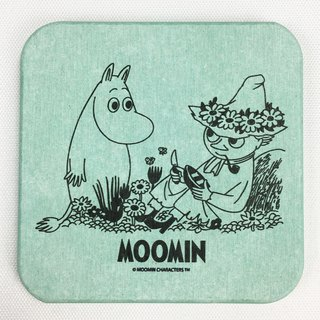 Moomin glutinous rice authorized - diatomaceous earth water coaster (green), AE04