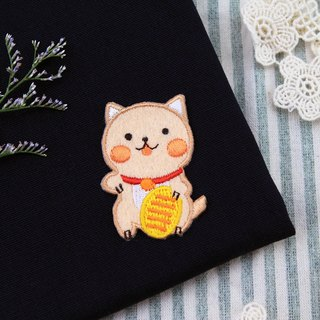 Steal hidden gold coins Meow self-adhesive embroidered cloth stickers - baby meow meow series