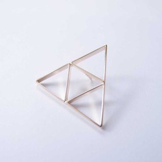 Triangle metal brooch