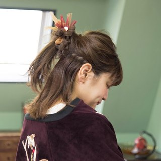 Café || Blooming Sakiami Colourful Hair Scrunchy / Hair Accessory / Hair Tie
