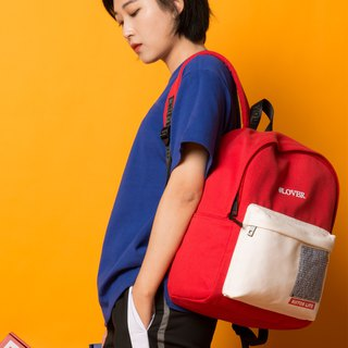 KIITOS Tokyo Love New Contrast Embroidered Print Backpack - Red LVOER Backpack