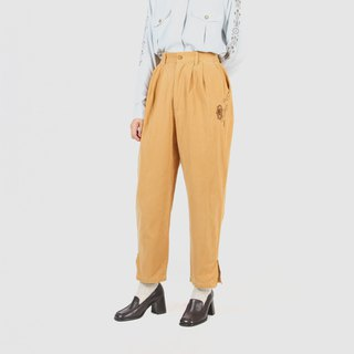 [Egg plant ancient] nautical helmsman suede vintage old pants