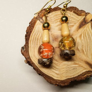 Glass vintage earrings // sunset afterglow