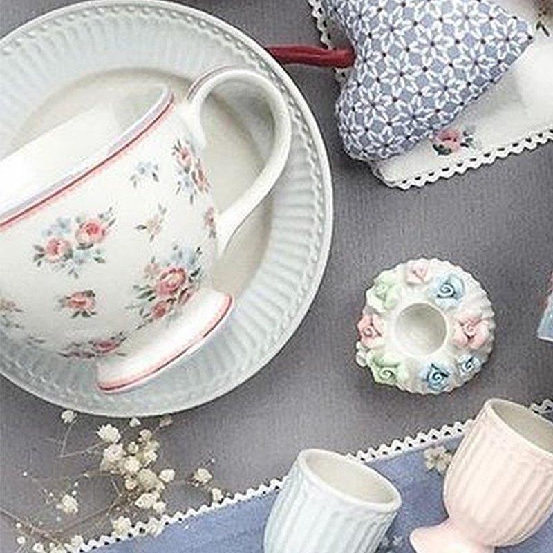 丹麥GreenGate Nicoline white 茶杯