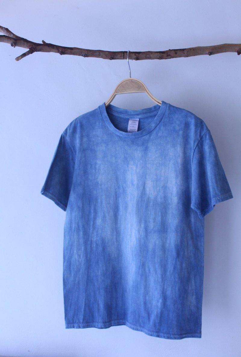自在染isvara 手工藍染 純粹系列 時光痕跡 純棉T-shirt