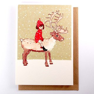 I am sitting on the elk's Christmas card [1973-card Christmas series]