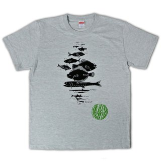 Fish by water depth T-shirt Men's