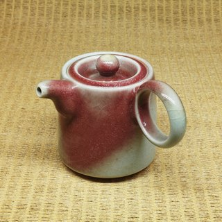 Bronze hanging barrel body double ring side teapot handmade pottery tea props