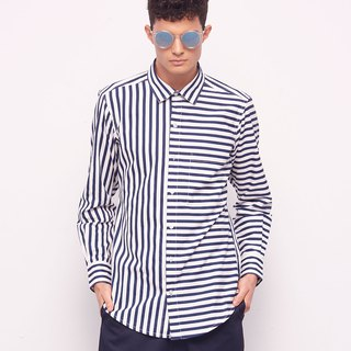 Stone@s Printed Shirts In Blue / Dark Blue Striped Shirt