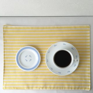 Reversible place mat [yellow stripe]