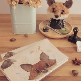 Two-hand fox housekeeper notebook