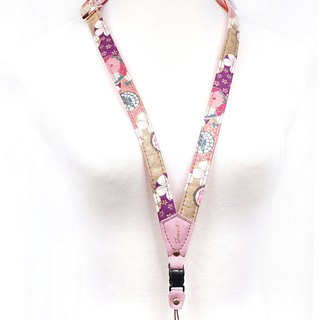 Phone strap neck hanging type - Japanese and colorful balls