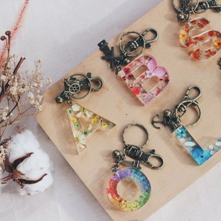 Key in the Dried Flower - Customised Keychain