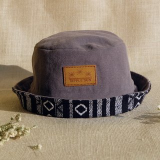 Tipple Sun Bucket hat  (Gray /Traditional Fabric black)