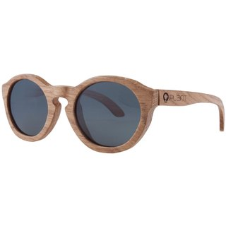Plantwear European Handmade Solid Wood Sunglasses - Vintage Series Oak Wood Frame + Space Gray Lens