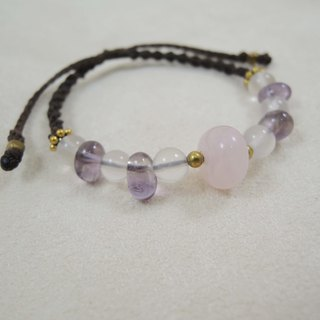Soft / natural stone x Brazilian wax silk cord bracelet