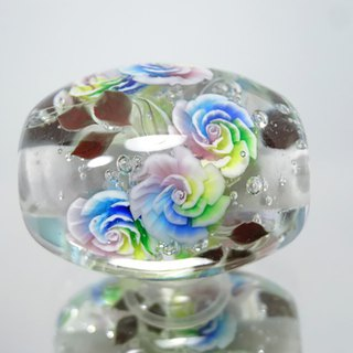 Rainbow rose Tonbonball Glass Ball