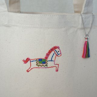 "the oriental zodiac Tote bag with hand embroidery ""horse"" [order-receiving production]"