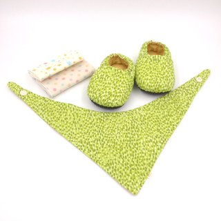 Green Imitation - Miyue Baby Gift Box (toddler shoes / baby shoes / baby shoes + 2 handkerchief + scarf)