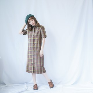 VINTAGE CHECKED SHIRT DRESS