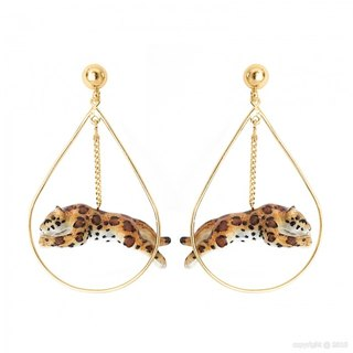 Jumping Leopard Earrings