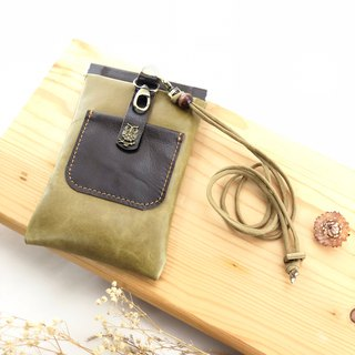 Splicing shrapnel multi-function mobile phone bag --- mobile phone set / earphone / card / slanting back phone bag