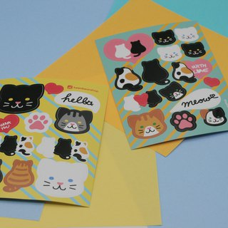 Cat lover sticker set of 2