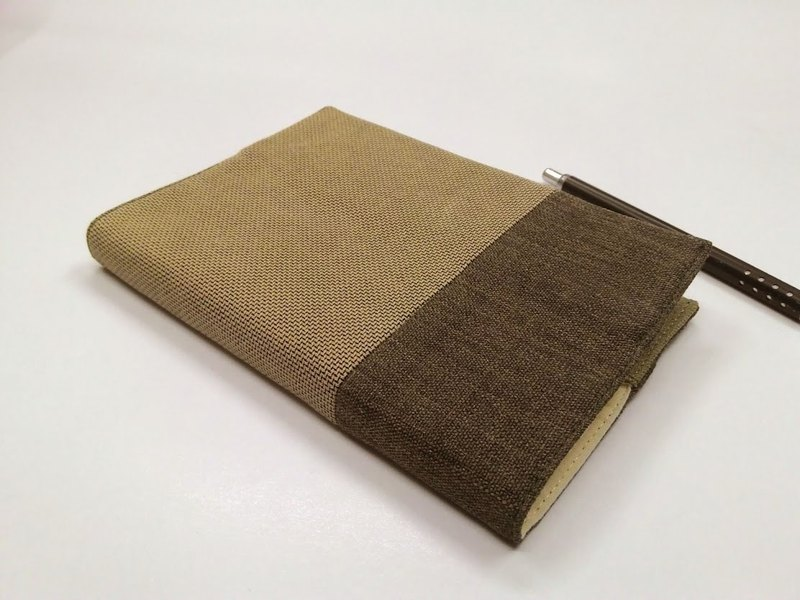 Exquisite A6 cloth book clothing ~ khaki (single product) B04-030