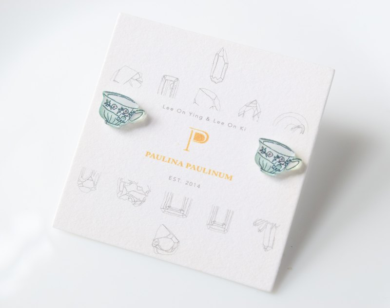 Tea Cup Studs - Small Earrings - Cute Earrings