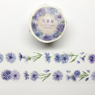 [夏艳群芳] Cornflower white ink and paper tape