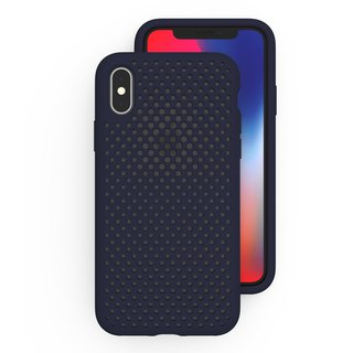 AndMesh iPhone X Japan QQ Network Soft Collision Protection Cover - Blue
